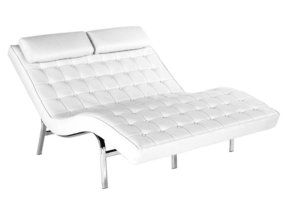 Leather double chaise lounge 1