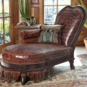 Leather Double Chaise Lounge - Foter