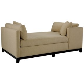 Leather double chaise lounge