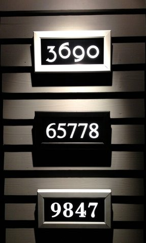 Light up address signs