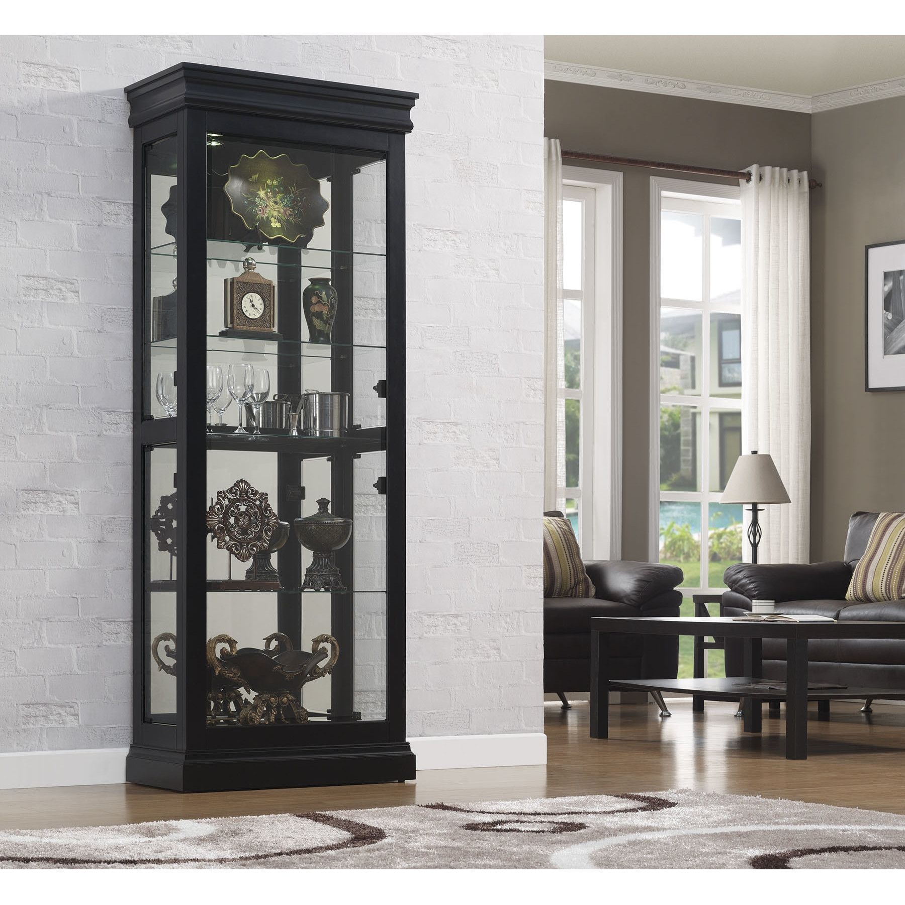 Louie Curio Display Cabinet