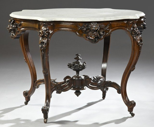 Marble Top Foyer Table 6