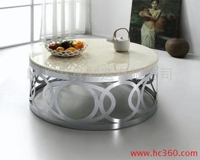 Marble top round coffee table 3