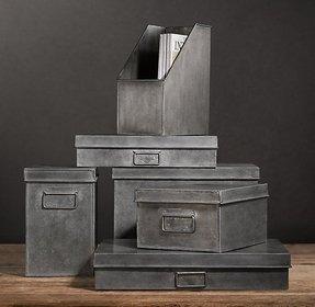 Decorative Metal Storage Bins - Foter