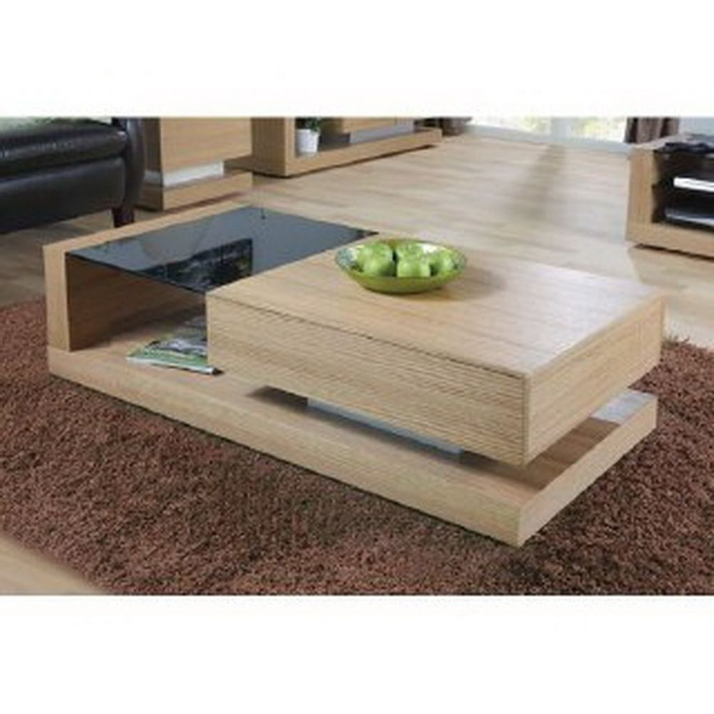 Oak And Glass Coffee Table Foter