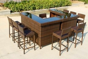 L shaped outdoor bar foter for U shaped outdoor bar