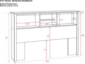 Bookshelf Headboard King - Foter
