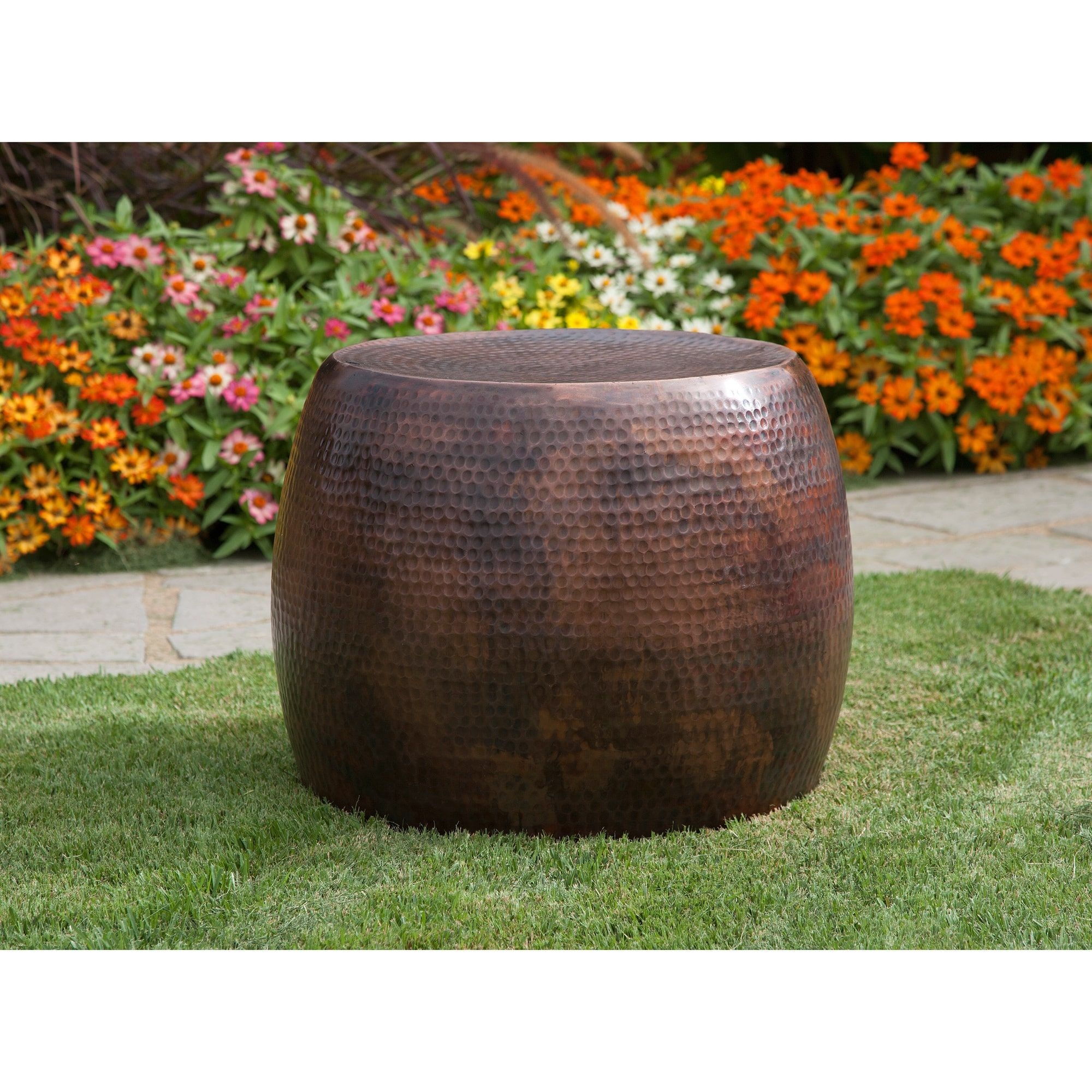 Rain drum accent table