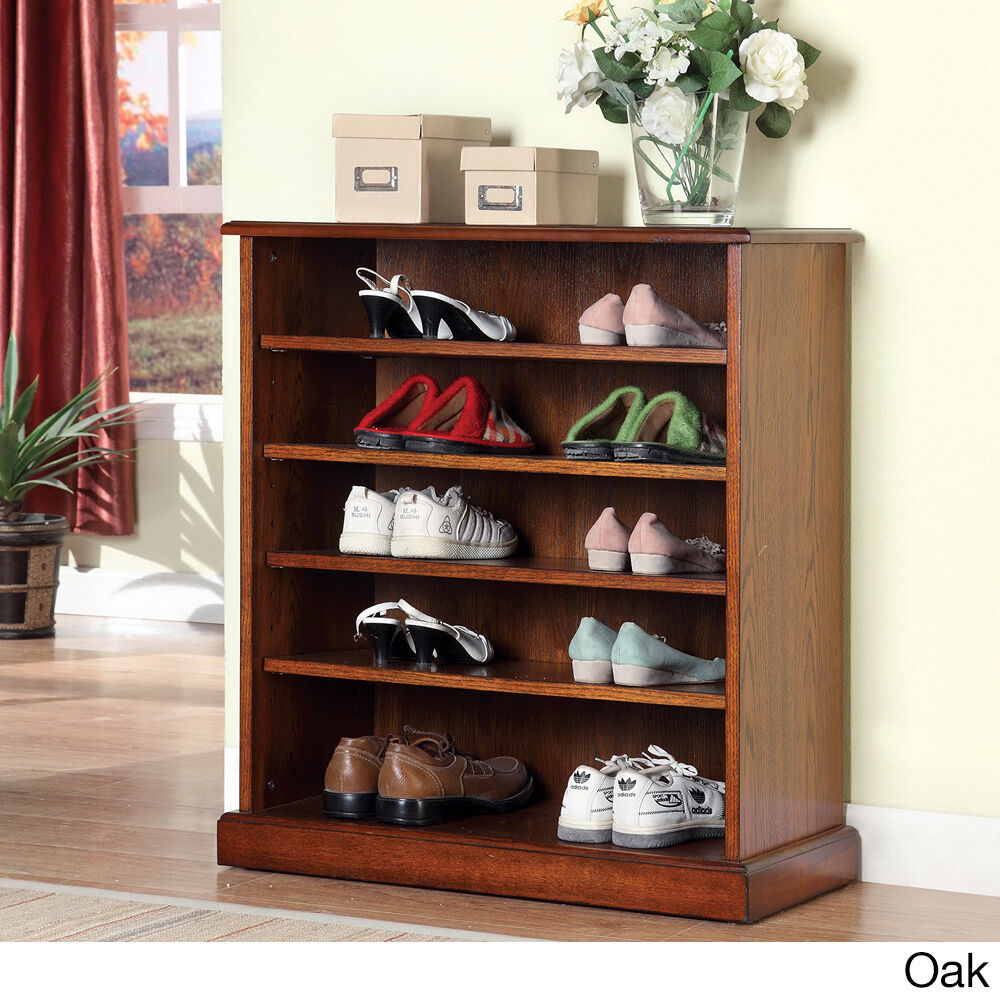 Exceptionnel Revianne 5 Shelf Open Shoe Rack Finish: Oak