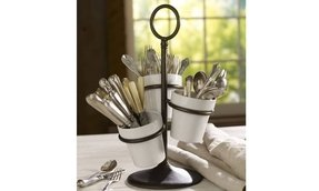 Rhodes ceramic kitchen accessories utensil caddy