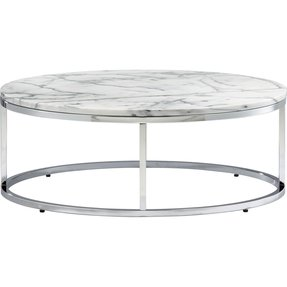 Round coffee table marble top