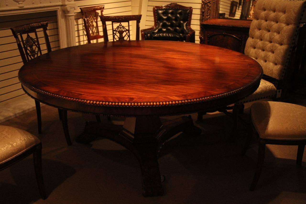 Genial Round Dining Table For 8 People   Ideas On Foter
