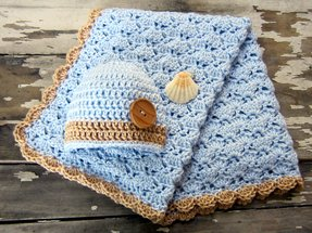 Seashell throw blanket 9