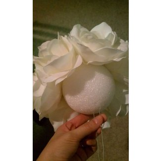 Silk flower centerpiece 1