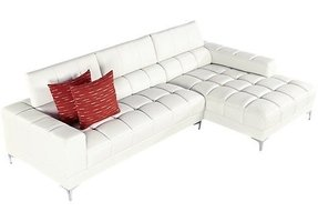 Small white leather sectional 2