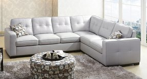 Small white leather sectional 6