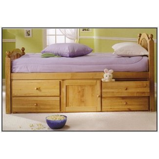 Solid wood captains bed twin