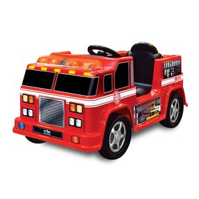 Toy metal fire trucks