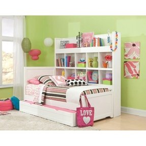 Trundle bed with bookcase 1