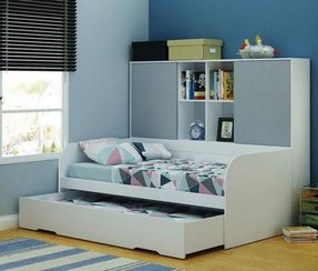 Trundle bed with bookcase 3