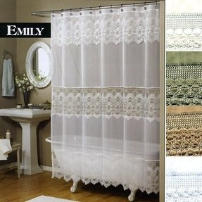 Voile shower curtain 1