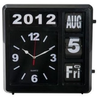 Wall clock with day and date