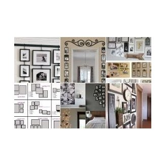 Wall hanging collage picture frames