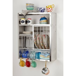 Wall mounted utensil rack