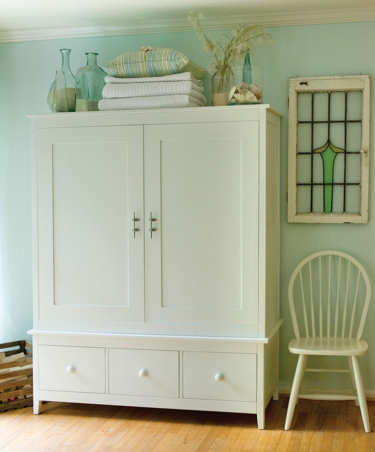 White Armoire With Drawers 2 White88