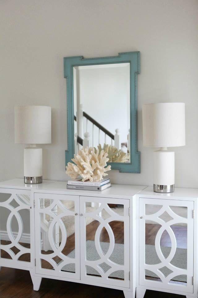 White Mirrored Buffet