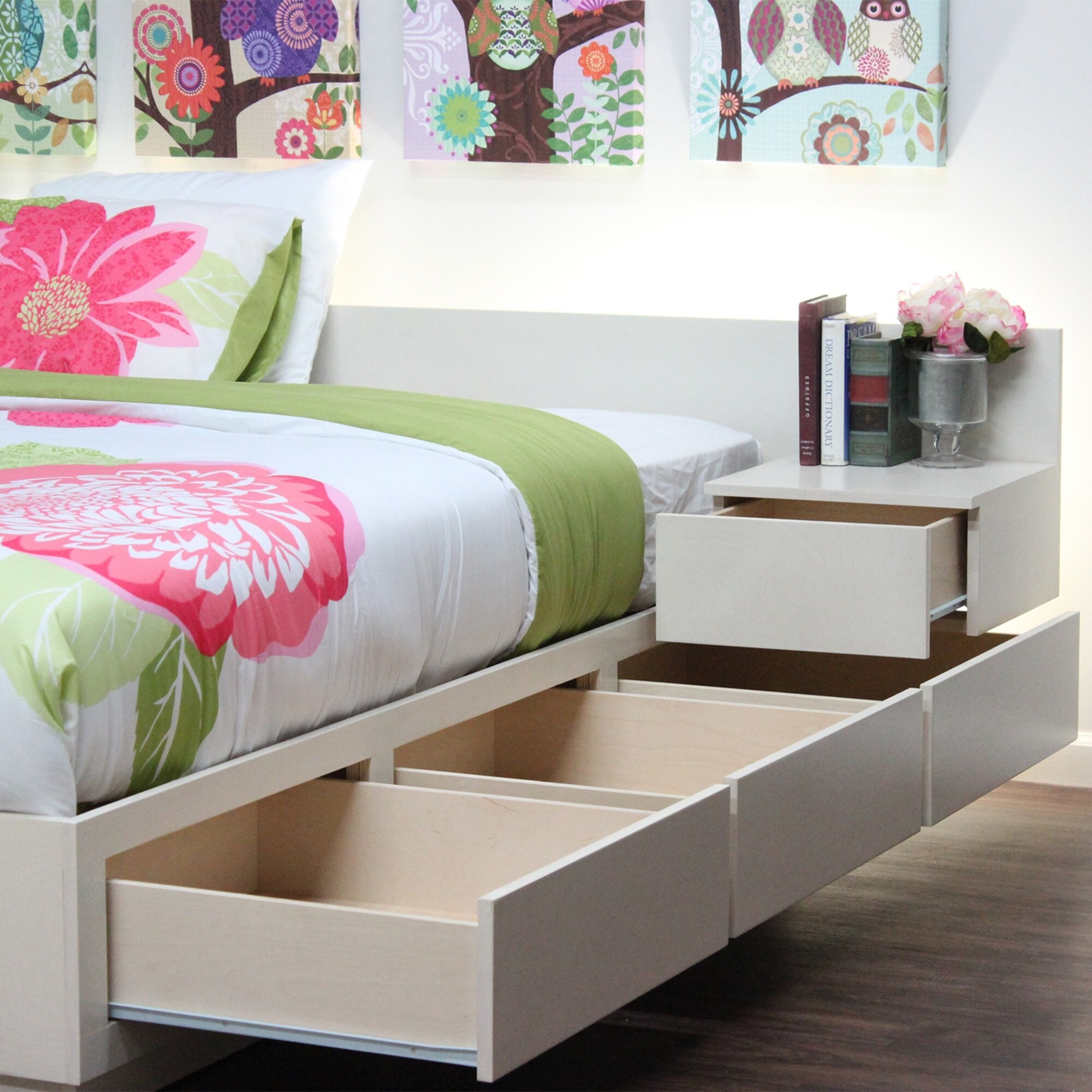 Solid Wood Captains Bed Twin Foter