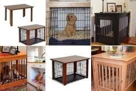 Wood Dog Crate Table