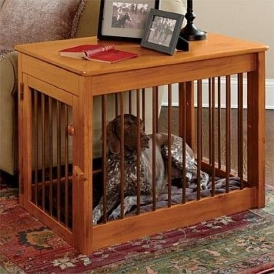 Wood Dog Crate Wood Metal Deluxe Dog Crate Traditional Pet