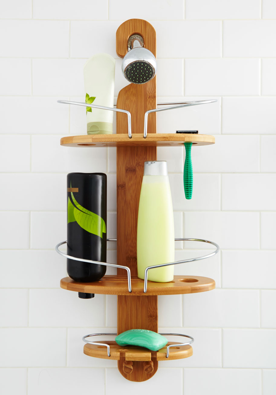 Delightful Wooden Shower Caddy   Foter Amazing Pictures