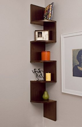 Zig Zag Corner Wall Shelf 5