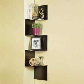 Zig Zag Corner Wall Shelf - Foter