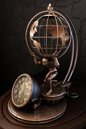 Antique desk globe 11