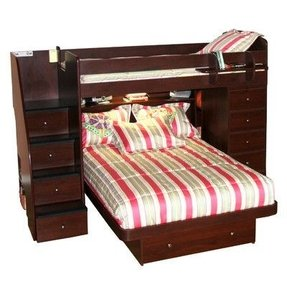 Berg furniture sierra twin space saver l shaped bunk bed