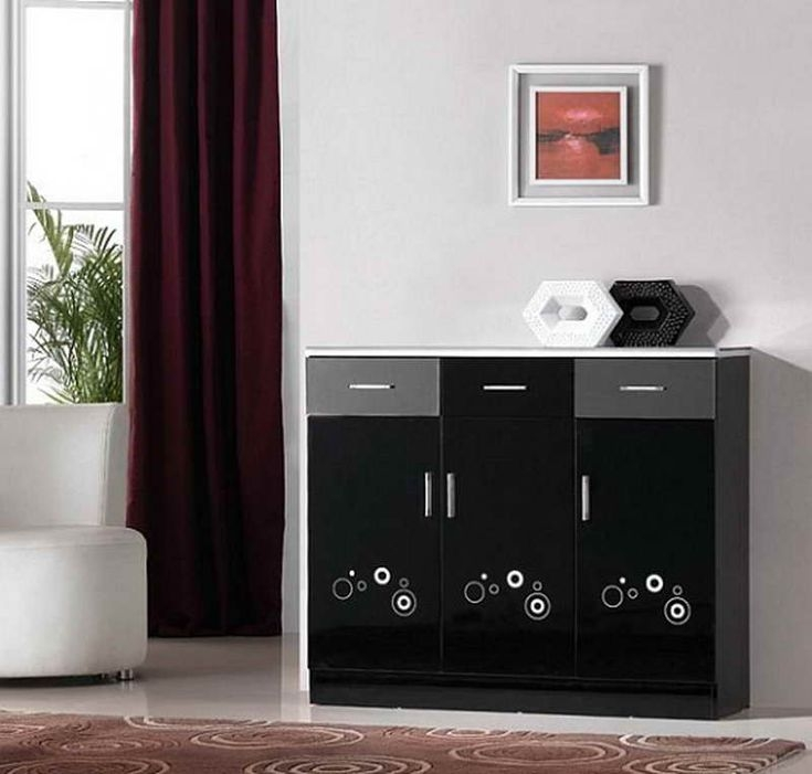 High Quality Black Shoe Cabinet With Doors