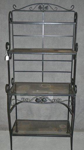 Black Wrought Iron Bakers Rack Foter
