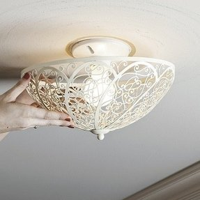 Clip on ceiling shades foter clip on ceiling light shade aloadofball Image collections