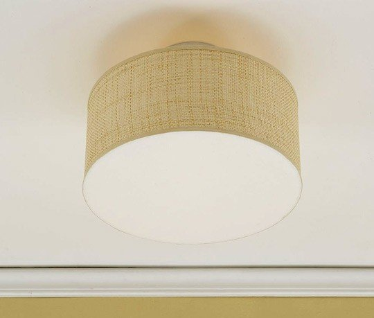 """CLIP ON 6/"""" BELL LAMPSHADE CREAM FABRIC SHABBY CHIC SMALL WALL CEILING LIGHTS"""