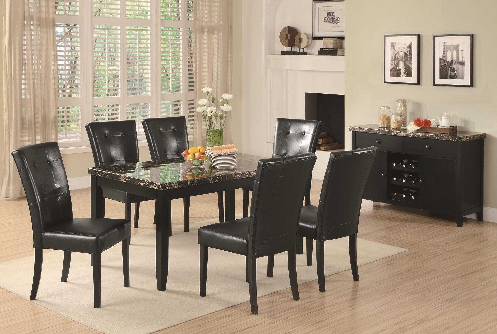 Attirant Counter Height Marble Top Dining Sets