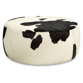 Cow Print Storage Ottoman