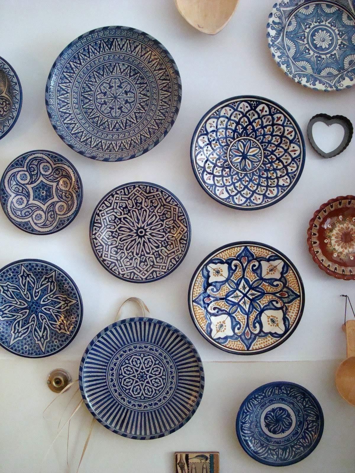 Blue Decorative Wall Plates