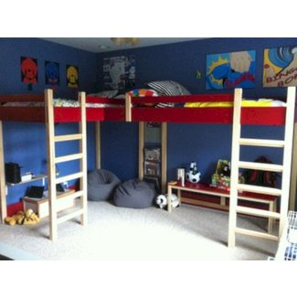 Double loft bed modern kids beds louisville