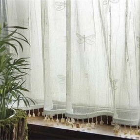 Dragonfly lace curtains