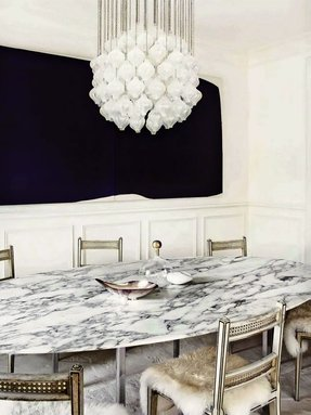 Faux marble dining table 3