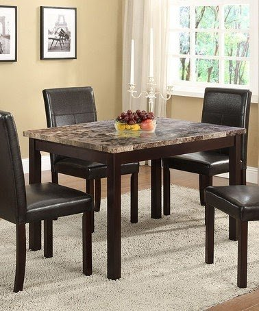 Faux marble dining table set 2 & Faux Marble Dining Table Set - Foter