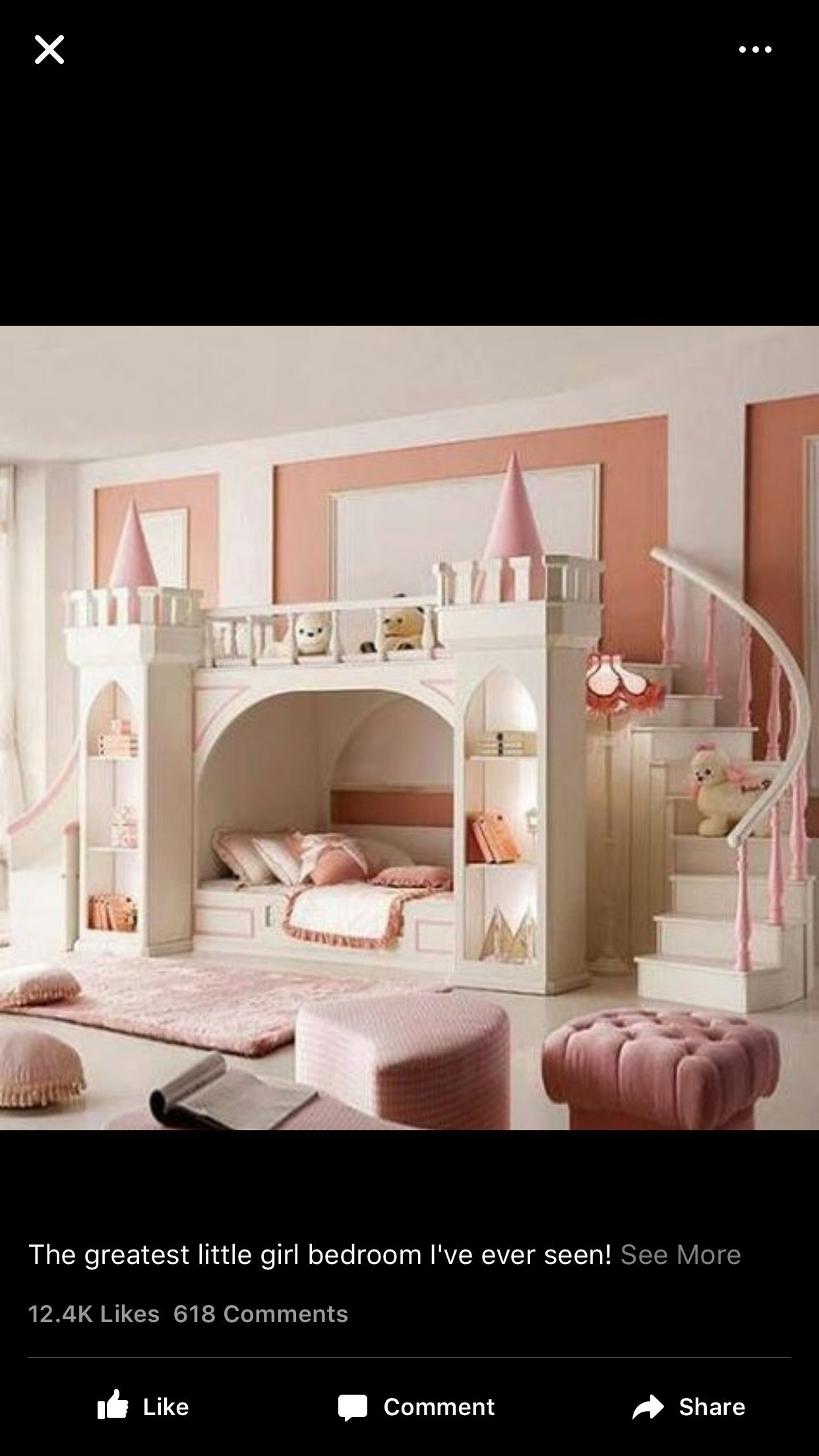 Merveilleux Girls Princess Bunk Bed
